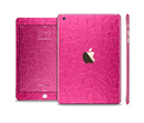 The Stamped Pink Texture Full Body Skin Set for the Apple iPad Mini 3