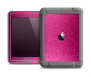 The Stamped Pink Texture Apple iPad Air LifeProof Fre Case Skin Set