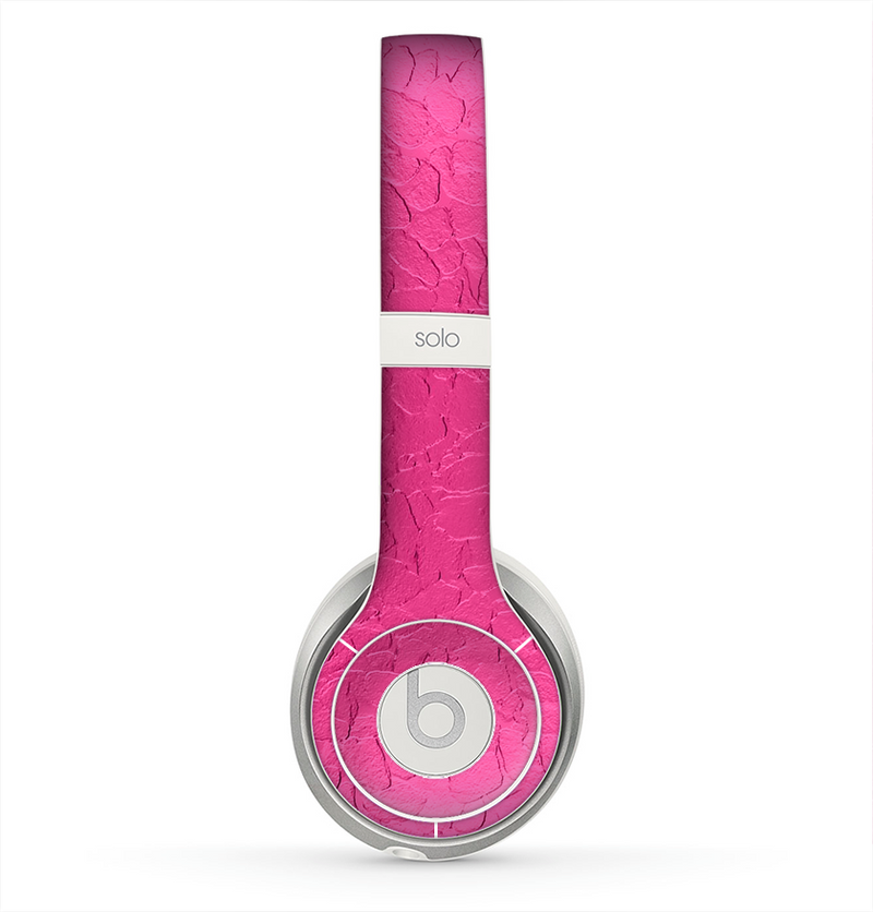 The Stamped Pink Texture Skin for the Beats by Dre Solo 2 Headphones