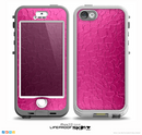 The Stamped Pink Texture Skin for the iPhone 5-5s NUUD LifeProof Case for the LifeProof Skin