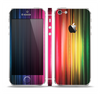 The Straight Abstract Vector Color-Strands Skin Set for the Apple iPhone 5