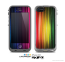 The Straight Abstract Vector Color-Strands Skin for the Apple iPhone 5c LifeProof Case