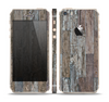 The Straight Aged Wood Planks Skin Set for the Apple iPhone 5s