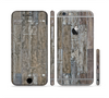 The Straight Aged Wood Planks Sectioned Skin Series for the Apple iPhone 6