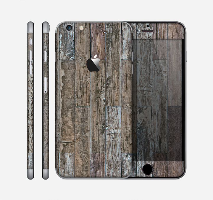 The Straight Aged Wood Planks Skin for the Apple iPhone 6 Plus