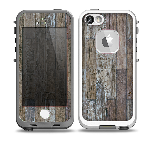 The Straight Aged Wood Planks Skin for the iPhone 5-5s fre LifeProof Case