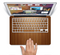 "The Straight WoodGrain Skin Set for the Apple MacBook Pro 15"" with Retina Display"
