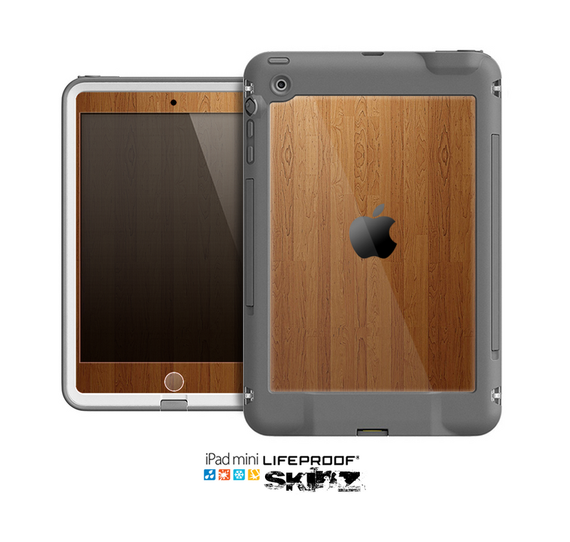 The Straight WoodGrain Skin for the Apple iPad Mini LifeProof Case