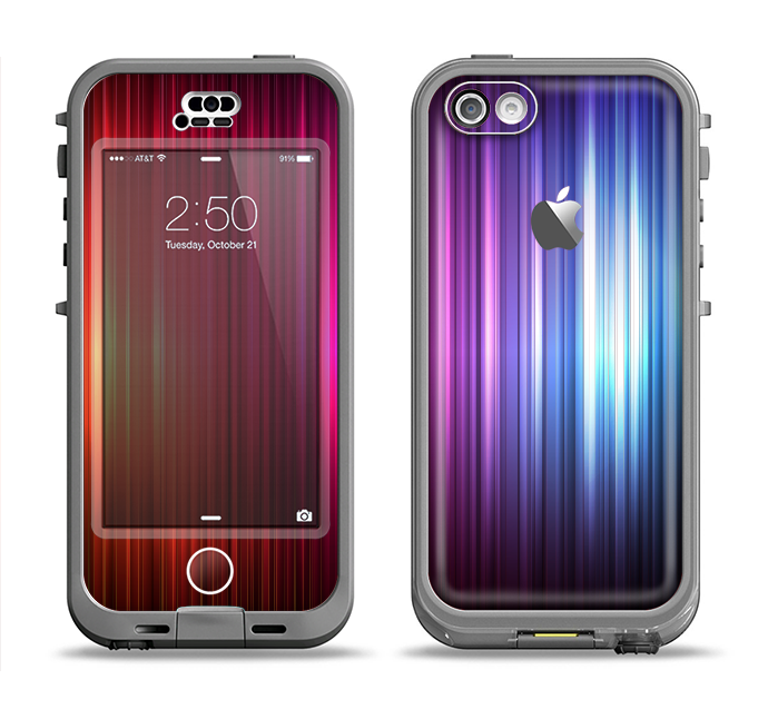 The Straigth Vector HD Lines Apple iPhone 5c LifeProof Nuud Case Skin Set