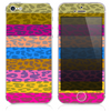 The Striped Cheetah Neon Print Skin for the iPhone 3, 4-4s, 5-5s or 5c