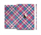The Striped Vintage Pink & Blue Plaid Full Body Skin Set for the Apple iPad Mini 3