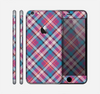 The Striped Vintage Pink & Blue Plaid Skin for the Apple iPhone 6 Plus