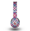 The Striped Vintage Pink & Blue Plaid Skin for the Beats by Dre Original Solo-Solo HD Headphones