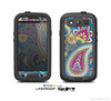 The Suble Blue & Yellow Paisley Pattern Skin For The Samsung Galaxy S3 LifeProof Case