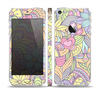 The Subtle Abstract Flower Pattern Skin Set for the Apple iPhone 5