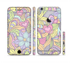 The Subtle Abstract Flower Pattern Sectioned Skin Series for the Apple iPhone 6