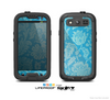 The Subtle Blue Floral Lace Pattern Skin For The Samsung Galaxy S3 LifeProof Case