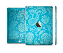 The Subtle Blue Floral Lace Pattern Full Body Skin Set for the Apple iPad Mini 3