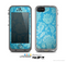 The Subtle Blue Floral Lace Pattern Skin for the Apple iPhone 5c LifeProof Case