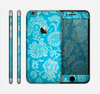The Subtle Blue Floral Lace Pattern Skin for the Apple iPhone 6