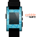 The Subtle Blue Floral Lace Pattern Skin for the Pebble SmartWatch