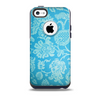 The Subtle Blue Floral Lace Pattern Skin for the iPhone 5c OtterBox Commuter Case