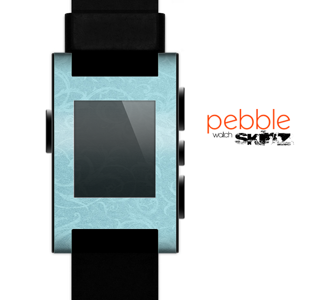 The Subtle Blue Floral Laced Skin for the Pebble SmartWatch