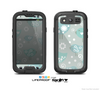 The Subtle Blue Multiple Birds Skin For The Samsung Galaxy S3 LifeProof Case