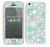The Subtle Blue Multiple Birds Skin for the Apple iPhone 5c