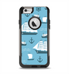 The Subtle Blue Ships and Anchors Apple iPhone 6 Otterbox Commuter Case Skin Set
