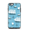 The Subtle Blue Ships and Anchors Apple iPhone 6 Plus Otterbox Symmetry Case Skin Set