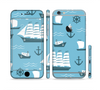 The Subtle Blue Ships and Anchors Sectioned Skin Series for the Apple iPhone 6 Plus