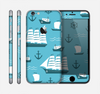 The Subtle Blue Ships and Anchors Skin for the Apple iPhone 6