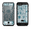 the subtle blue sketched lace pattern v21  iPhone 6/6s Plus LifeProof Fre POWER Case Skin Kit