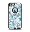 The Subtle Blue Sketched Lace Pattern V21 Apple iPhone 6 Otterbox Defender Case Skin Set