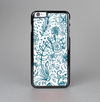 The Subtle Blue Sketched Lace Pattern V21 Skin-Sert Case for the Apple iPhone 6 Plus