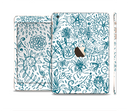 The Subtle Blue Sketched Lace Pattern V21 Full Body Skin Set for the Apple iPad Mini 3