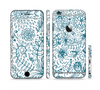 The Subtle Blue Sketched Lace Pattern V21 Sectioned Skin Series for the Apple iPhone 6 Plus