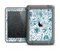 The Subtle Blue Sketched Lace Pattern V21 Apple iPad Air LifeProof Fre Case Skin Set