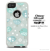 The Subtle Blue Tweety Birds Skin For The iPhone 4-4s or 5-5s Otterbox Commuter Case