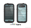 The Subtle Blue Vertical Aged Wood Skin For The Samsung Galaxy S3 LifeProof Case