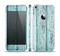 The Subtle Blue Vertical Aged Wood Skin Set for the Apple iPhone 5