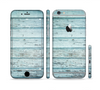 The Subtle Blue Vertical Aged Wood Sectioned Skin Series for the Apple iPhone 6
