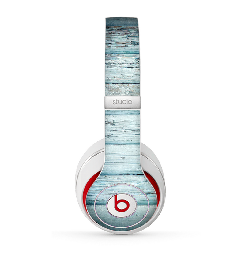 The Subtle Blue Vertical Aged Wood Skin for the Beats by Dre Studio (2013+ Version) Headphones