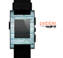 The Subtle Blue Vertical Aged Wood Skin for the Pebble SmartWatch