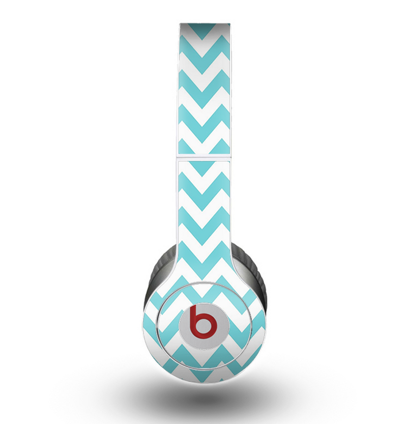 The Subtle Blue & White Chevron Pattern Skin for the Beats by Dre Original Solo-Solo HD Headphones