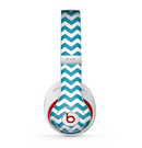 The Subtle Blue & White Chevron Pattern V2 Skin for the Beats by Dre Studio (2013+ Version) Headphones