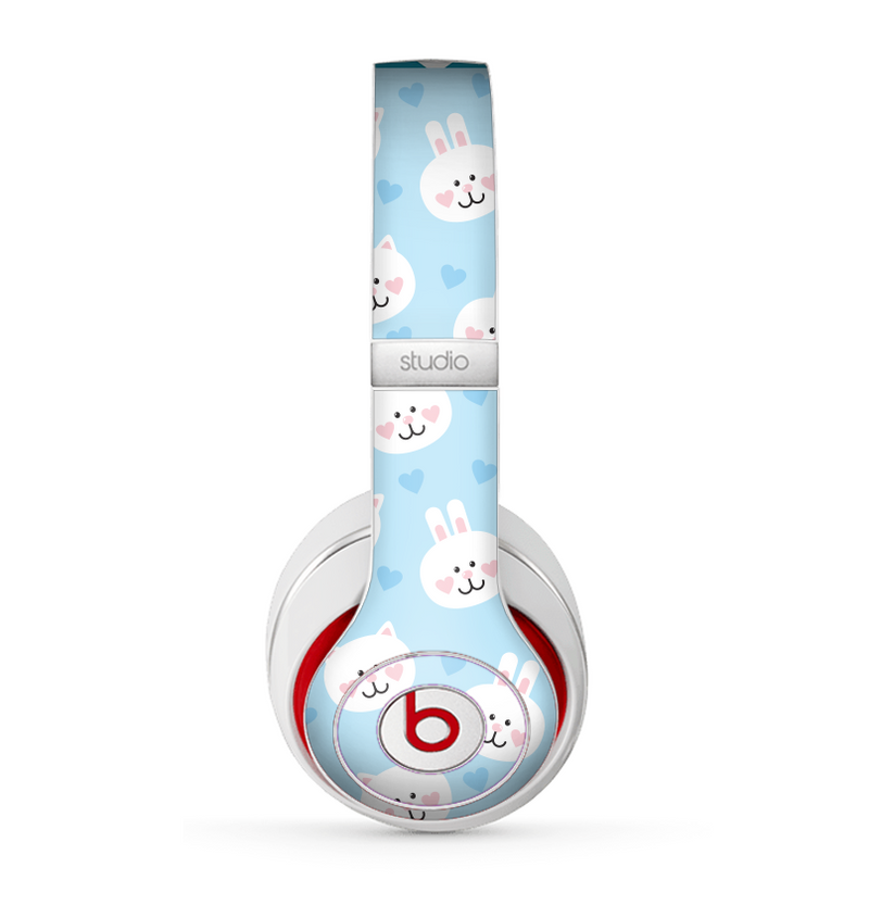 The Subtle Blue & White Faced Cats Skin for the Beats by Dre Studio (2013+ Version) Headphones