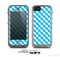 The Subtle Blue & White Plaid Skin for the Apple iPhone 5c LifeProof Case