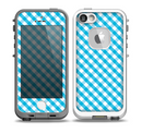 The Subtle Blue & White Plaid Skin for the iPhone 5-5s fre LifeProof Case